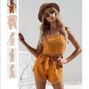 Sabo Skirt burnt orange karman set